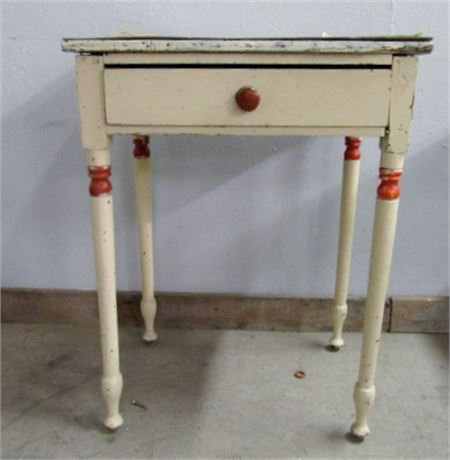 Antique Side Table w/ Drawer