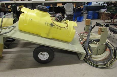 14 Gal Tank Sprayer with Tow Behind Cart/Wand/Hose